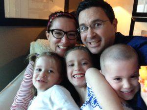 Sleep consultant Alanna McGinn with her family