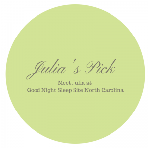 Sleep product consultant Julia's pick