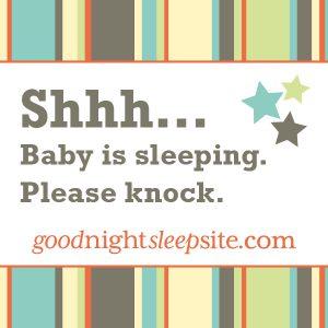 Baby is sleeping sticker