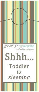 shhh toddler is sleeping