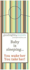 BabySleepDoorHangerWakeHer