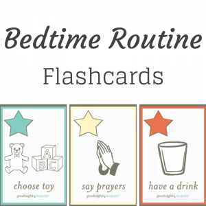 Free Printable Bedtime Routine Chart flashcards