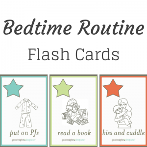 bedtime routine flash cards