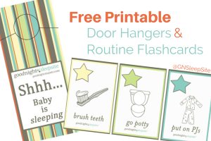 door hanger printable card and routine flashcards