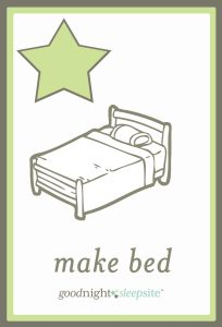 make your bed routine card