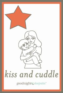 kiss and cuddle routine card