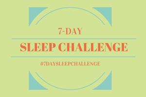 7 day sleep challenge