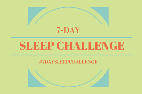 7 day sleep challenge