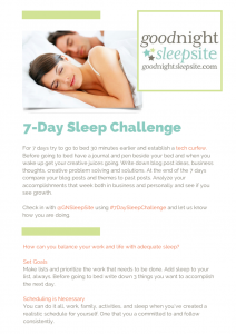 7 day sleep challenge tips from a sleep consultant