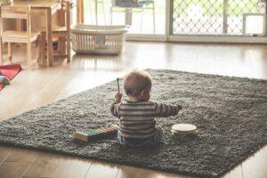 pandemic - baby playing music