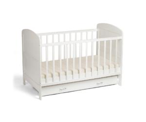 white empty crib - safe sleep guidelines