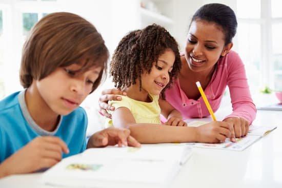 kids doing homework - routine